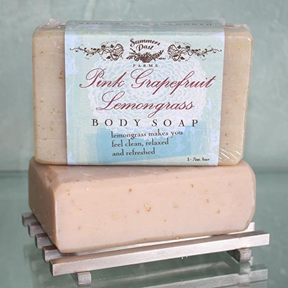 Pink Grapefruit & Lemon Grass Body Soap
