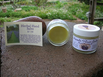 Lavender Flower Garden Herbal Hand Salve